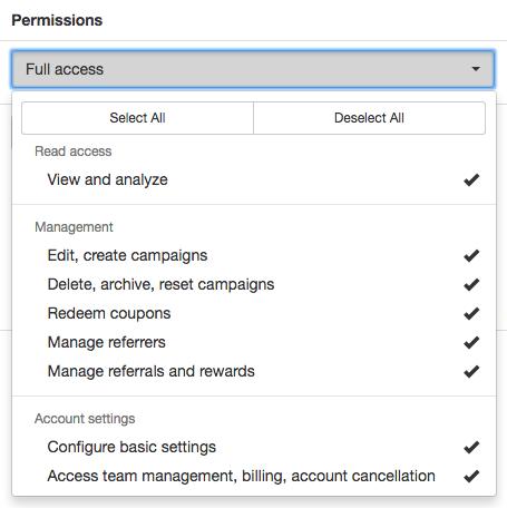 Permissions list