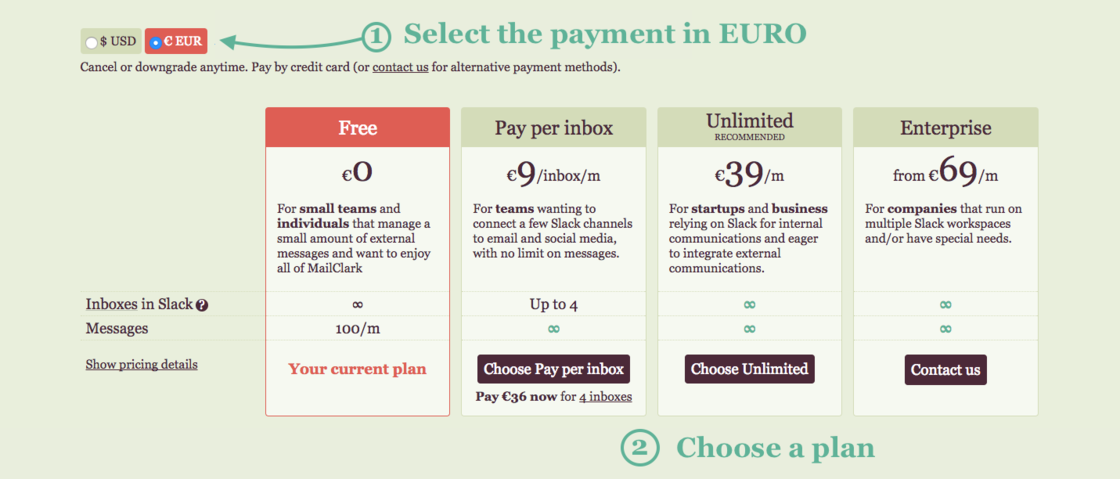 European users can now pay by SEPA Direct Debit - MailClark updates
