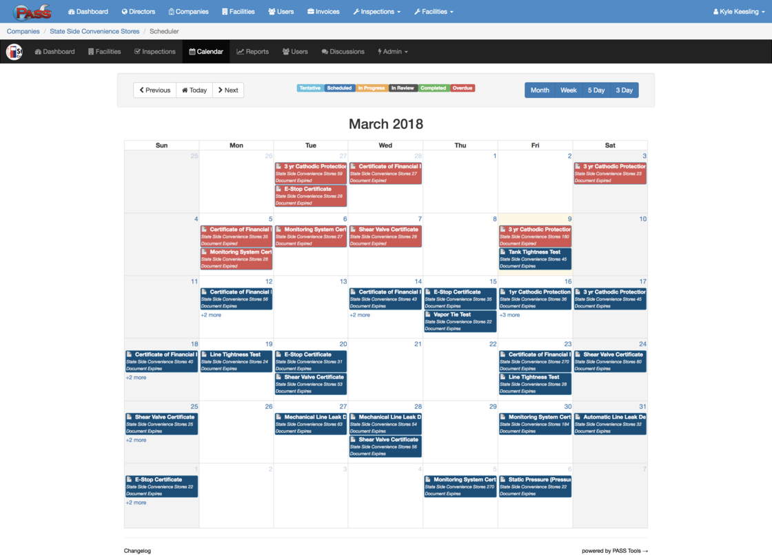 PASS Tools - Company Calendar