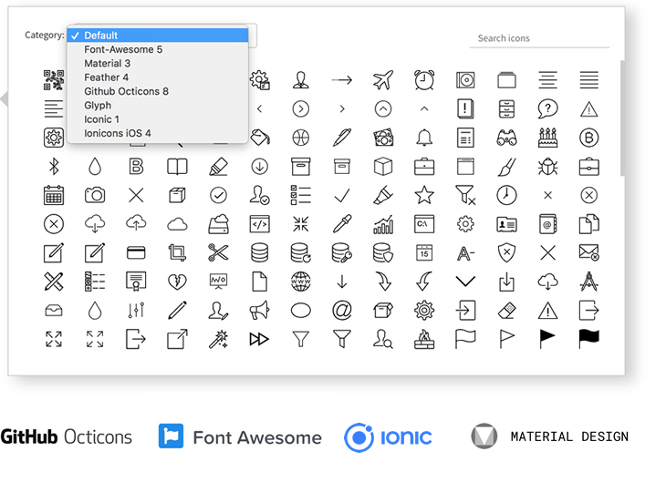 New! Support for multiple icon sets and vector images - MockFlow updates