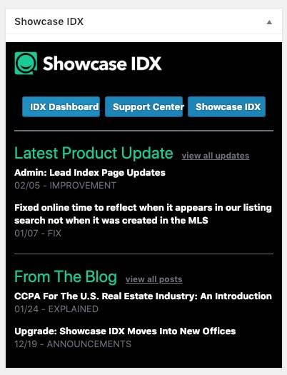 Showcase IDX Dashboard Widget.jpg