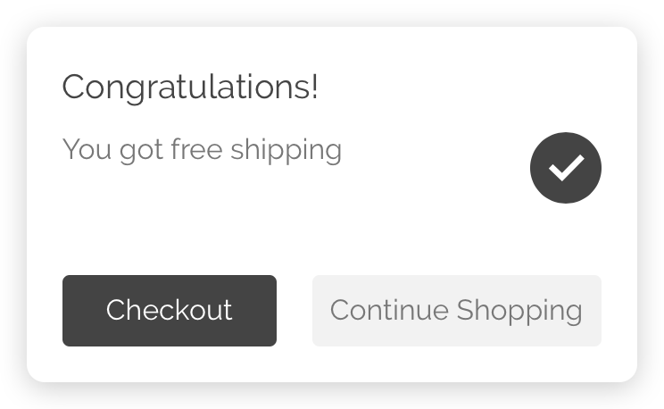 Free Shipping Popup (Shopify app) – Add some space between buttons (after)