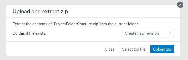 Upload zip modal