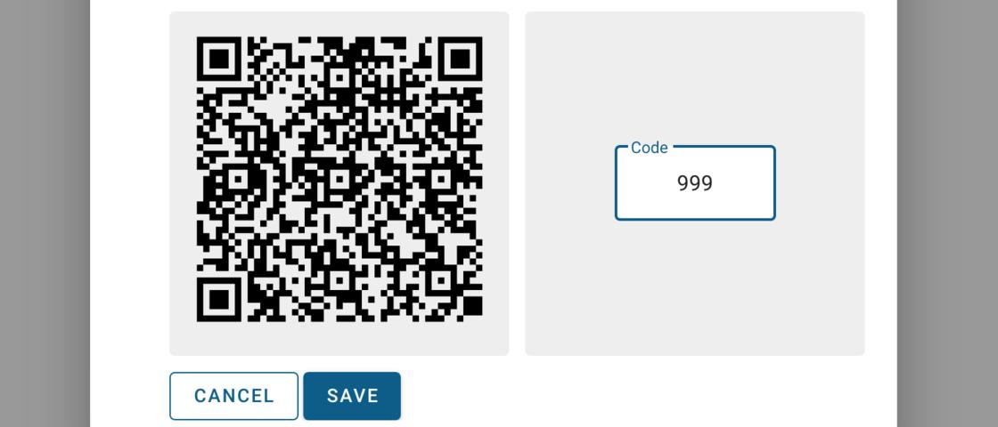 2FA QR code