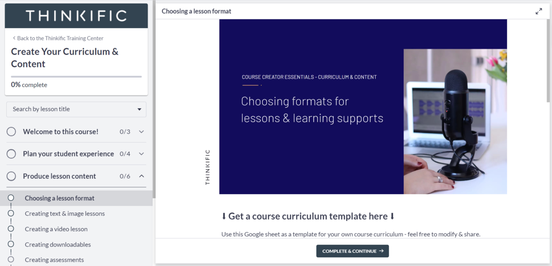 A example lesson on how to choose the best lesson format
