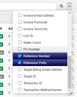 example of searching by reference prefix and number in accessplanit