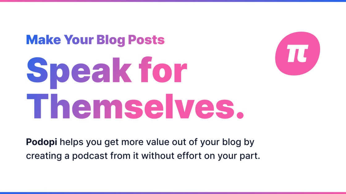 Add speech versions to your Blog
